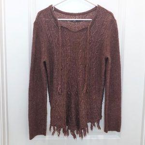Prana Brown Wool Sweater Size Large
